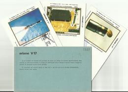 Lancement Fusée ARIANE V17 - 28/03/1986 - Pochette Lancement CNES - 4 Documents - CENTRE SPATIAL GUYANAIS - ESPACE - FDC & Gedenkmarken