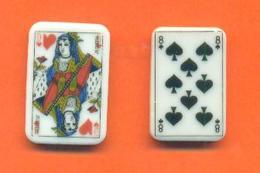 Lot De 2 Feves Personalisées Cartes à Jouer Colas à Clamecy - Olds