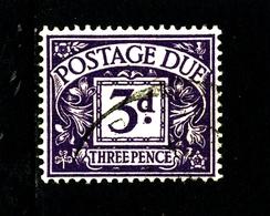 GREAT BRITAIN - 1955 POSTAGE DUE TUDOR CROWN WMK  3d   FINE USED  SG D42 - Tasse