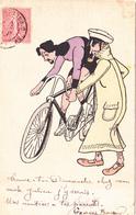 CPA Peinte à La Main Coureur Cycliste Stayer Vélo Bicyclette Cyclisme Cycling Radsport Illustrateur Anonyme - Cyclisme