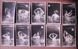 """11/124-10 Cpa Photo Approche érotique Par Reutlinger Série """" Les ONDINES"""" 10cp (voir Dos) - Pin-Ups"""