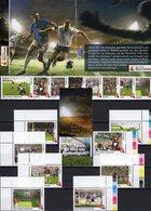 FIFA 2018 BUND 3380,Sao Tome/Principe 8+corner-stamps ** 22€ Fußball-WM Bloc Voetball Set Soccer Sheetlets Football - Sao Tome Et Principe