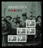 Canada 2018 Mih. 3674 World War I. Armistice. Fauna. Birds. Pigeon (M/S) MNH ** - Unused Stamps