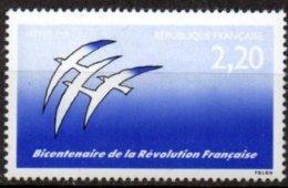 FRANCE - Bicentenaire De La Révolution Sans Le Rouge - Trucage Chimique - Errors & Oddities