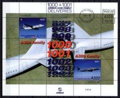 FRANCE - Ensemble Airbus Dans Un Encart - 3 Scans - A300, A319/20 - Poste Aérienne