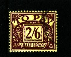 GREAT BRITAIN - 1957 POSTAGE DUE EDWARD CROWN WMK  2/6d   FINE USED  SG D54 - Tasse