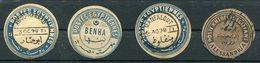 Egypt Inter-Postal Seals X4 Used. Abou Hammad. Benha. Manfalout. Alessandria - Egypt