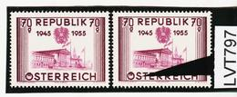"""LVT797 ÖSTERREICH 1955 Michl 1012 PLATTENFEHLER FARBSTRICH Durch """"S"""" ** Postfrisch - Abarten & Kuriositäten"""