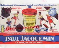 21- DIJON- BUVARD PAUL JACQUEMEIN- MOUTARDE VINAIGRE-ANCHOIS-OLIVES-CAPRES-PATINS ROULETTES-MONTRE-APPAREIL PHOTO-FOOT B - Food