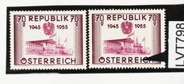 LVT798 ÖSTERREICH 1955 Michl 1012 PLATTENFEHLER MÜCKENSCHWARM ** Postfrisch - Abarten & Kuriositäten