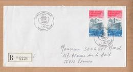 """Lettre  T.A.A.F.  ALFRED FAURE CROZET   Le 2 7 1984 """" Patrouilleur ALBATROS """"  En POSTE AERIENNE 11.30f  X 2 - Poste Aérienne"""