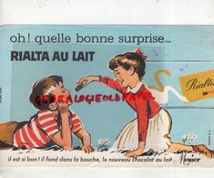 CHOCOLAT MENIER - BUVARD RIALTA AU LAIT- ENFANT ENFANTS - Food