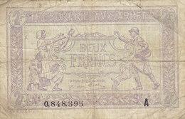 Billet 2 F Trésorerie Aux Armées 1917 FAY VF 5.1 Lettre A - Tesoro