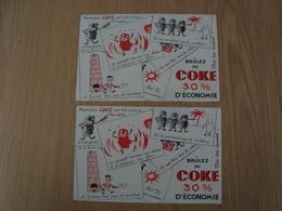 LOT DE 2 BUVARDS COKE - Vloeipapier