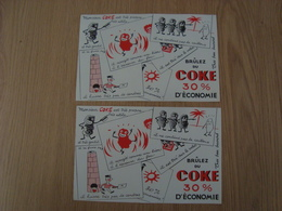 LOT DE 2 BUVARDS COKE - Buvards, Protège-cahiers Illustrés