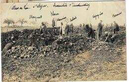 CPA Photo - Haute Marne - Villiers Sur Lieu - Guerre 14-18 Construction De Tranchées - Guerra 1914-18