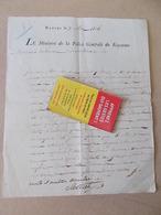AUTOGRAPHE DOCUMENT HISTORIQUE MINISTRE DE LA POLICE DE NAPLES 1806 C. SALICETI NAPOLEON Empire Italie - Autographes