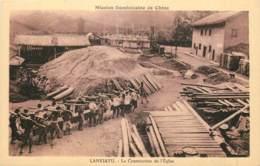 CHINA - Lankiatu - La Construction De L'eglise - Catholic Church In Construction - China