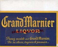 75- PARIS - BUVARD GRAND MARNIER LIQUOR- LAPOSTOLLE- 8 PLACE DE L' OPERA- - Food