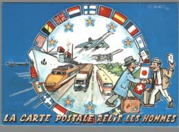 CPM 22 - Saint Brieuc - Journée Nationale De La Carte Postale - 1989 - Dessin De Claude Buret - Saint-Brieuc