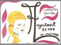 CPM 95 - Argenteuil - Bourse De La Carte Postale - 1986 - Illustration De Jean-Claude Sizler - Argenteuil