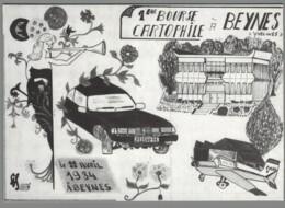 CPM 78 - Beynes - 1ère Bourse Cartophile - 1984- Illustration De Jean-Claude Sizler - Beynes