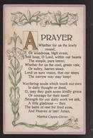 General Greetings - A Prayer - Used - Embossed - Greetings From...