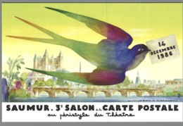 CPM 49 - Saumur - 3ème Salon De La Carte Postale - 1986 - Aquarelle De Jean A Mercier - Saumur