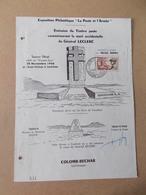 ALGERIE FDC 338 MORT  MARECHAL Général LECLERC 28 NOVEMBRE 1956 COLOMB BECHAR Signé De Mme Et Du Graveur - Algérie (1924-1962)