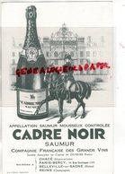 49 - SAUMUR - BUVARD CADRE NOIR - MAISON A CHACE- BELLEVILLE SUR SAONE- REIMS-PARIS BERCY- ECOLE DE CAVALERIE - Food