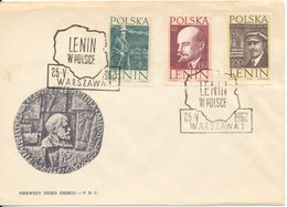 Poland FDC 25-5-1962 Complete Set Of 3 With Cachet - FDC