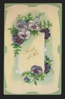 General Greetings - Think Of Me Flowers - Used - Embossed - Greetings From...