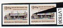 LVT836 ÖSTERREICH 1963 Michl 1144 PLATTENFEHLER FARBFLECK Im FENSTER ** Postfrisch - Abarten & Kuriositäten