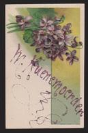 General Greetings - Flowers Lettering In Glitter - Used 1915 - Embossed - Greetings From...