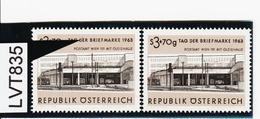 """LVT835 ÖSTERREICH 1963 Michl 1144 PLATTENFEHLER FARBSTRICH Auf """"E"""" ** Postfrisch - Abarten & Kuriositäten"""
