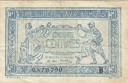 Billet 50 C Trésorerie Aux Armées Lettre H FAY VF 1.8 N° 0.870.790 - Tesoro