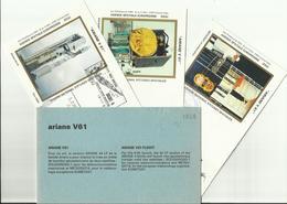 Lancement Fusée ARIANE V61 - 19/11/1993 - Pochette Lancement CNES - 4 Documents - CENTRE SPATIAL GUYANAIS - ESPACE - FDC & Gedenkmarken