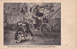 CPA DE VIENNE à PARIS Sur Les Mains Handicapé Phénomène Cycliste Vélo Bicyclette Cyclisme Cycling Radsport - Cartes Postales