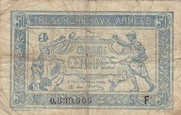 Billet 50 C Trésorerie Aux Armées Lettre F FAY VF 1.6 N° 0.539.566 - Tesoro