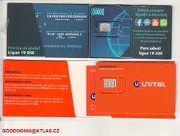 New ,,unused SIM Cards CST+ UNITEL = SAO TOMÉ E PRINCIPE =RARE= - Sao Tome And Principe