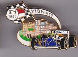 Pin's GRAND PRIX DE MONACO F1 1994 DOUBLE MOULES SIGNE JFG MIAMI - F1