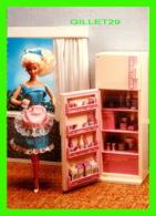 POUPÉE - NOSTALGIC BARBIE - SWEET ROSES REFRIGERATOR-FREEZER, 1988 - THE AMERICAN POSTCARD CO - - Games & Toys