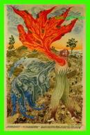 ART, PEINTURE - ARIK BRAUER (1929-) - PEINTRE AUTRICHIEN - ROUGE AU MATIN-GRIS AU MATIN - - Peintures & Tableaux