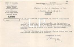 5-1646   Facture  1944  PONTS ET CHAUSSEES A. DIGUE A BOURG EN BRESSE - M. RIGOLLET A AMBERIEU EN BUGEY - France