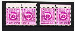 LVT776 ÖSTERREICH 1945 Michl 725 PLATTENFEHLER SELTENE DOPPELTE ZÄHNUNG OBEN ** Postfrisch - Abarten & Kuriositäten