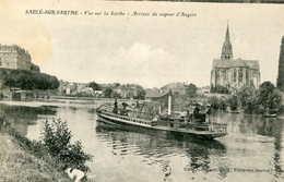 SABLE Sur SARTHE  =   Arrivée Du Vapeur D' Angers  52 - France