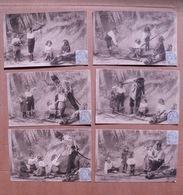 """11/130- Série 6 Cpa  """"en Maraude"""" Enfants Et Le Gendarme Attendri   Voy 1905 - Schools"""