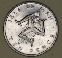 Isle Of Man - 10 Pence - 1976 - Elizabeth II - UNC - Monete Regionali