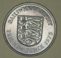 Jersey - 10 Pence - 1975 - Elizabeth II - UNC - Monete Regionali