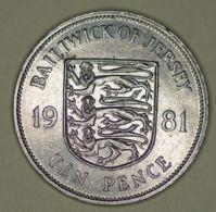 Jersey - 10 Pence - 1981 - Elizabeth II - Very Fine - Monete Regionali